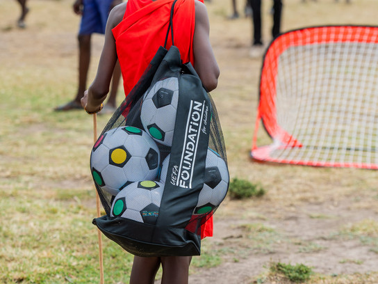 UEFA Foundation donation of football kits and balls to 7 schools in Lemek Conservancy