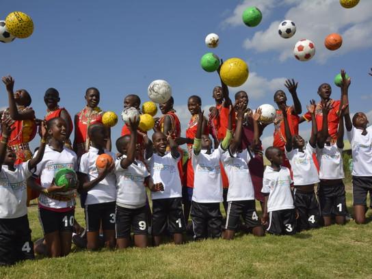 Launch of a mini fun football