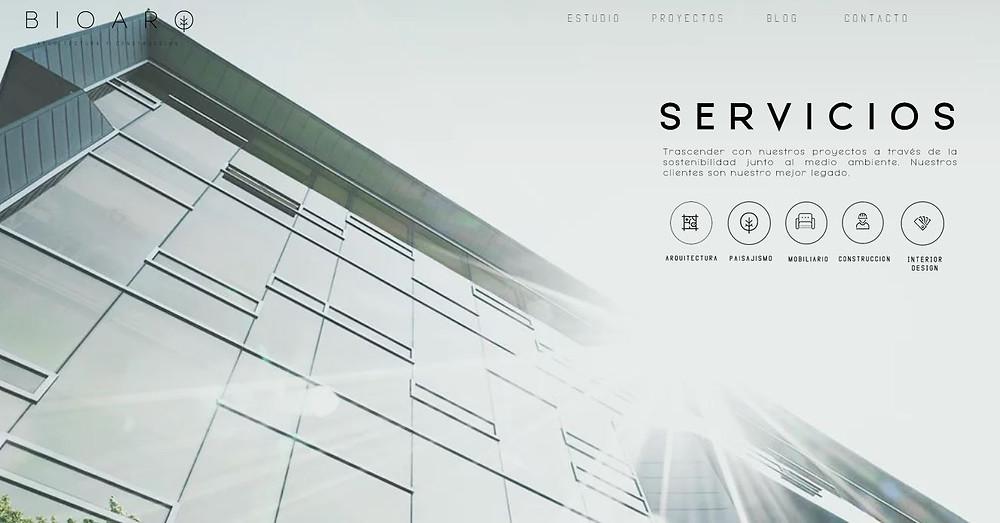 Nueva interface: Servicios