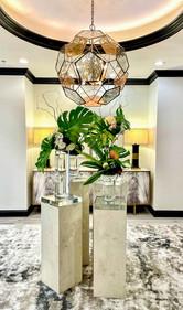 Headache Center of Hope Atrium with Floral Arrangement