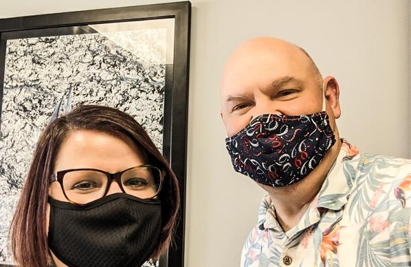 Gus & Erin  at General Films Hawaiian Shirt Friday