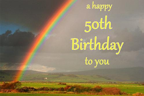 50th Birthday Rainbow from Tywyn High Street