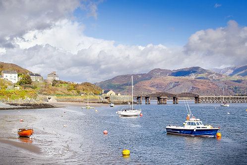Barmouth Bridge and Harbour