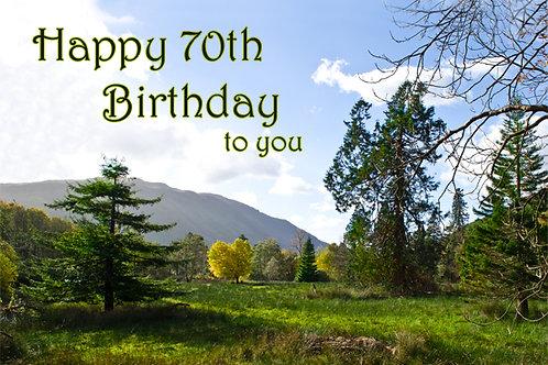 70th Birthday Scenery around Cadair Idris