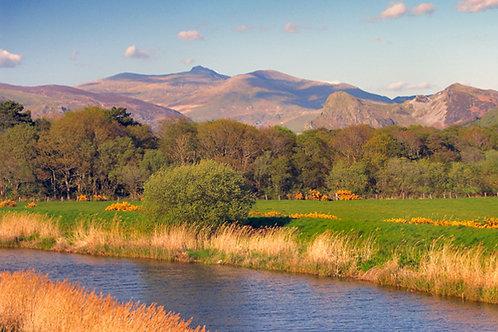 Dysynni River, Cadair Idris and Bird Rock