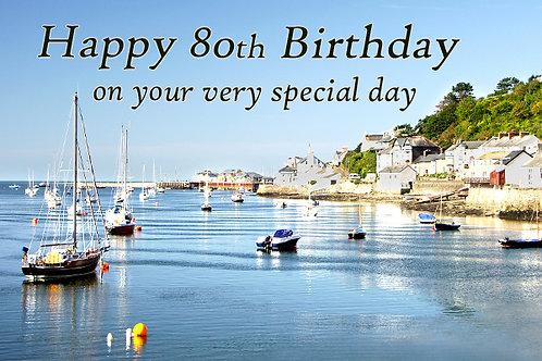 80th Birthday, Bright Day, Aberdyfi