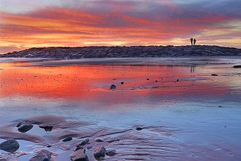 Winter Sunset, Tywyn Beach