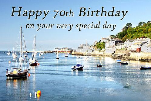 70th Birthday, Bright Day, Aberdyfi