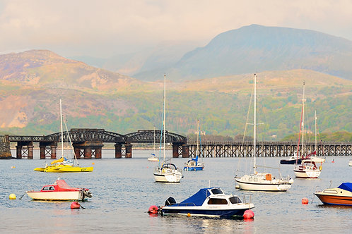 Boats in Barmouth Harbour View