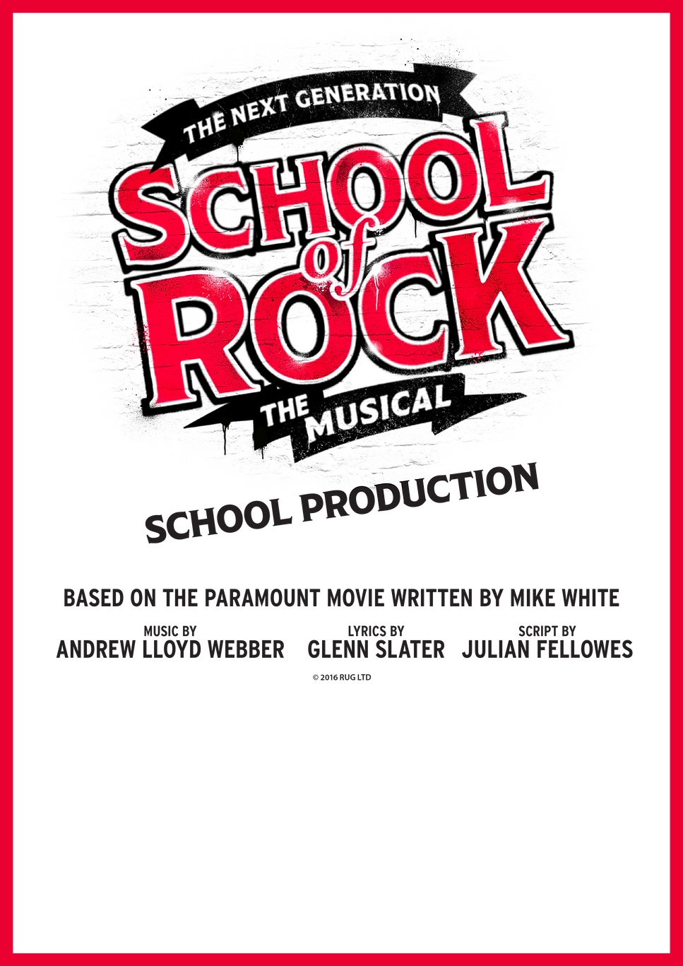 School of Rock school production poster