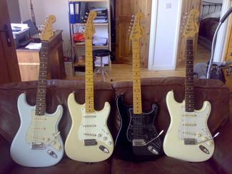 Nick Robinson Guitarist Fender Stratocasters