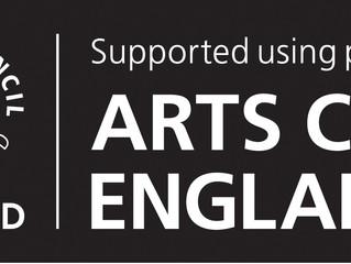 Seán receives Arts Council England Grant for the Arts
