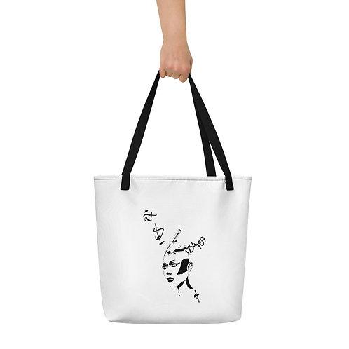 Beach Bag - Strong woman B&W design