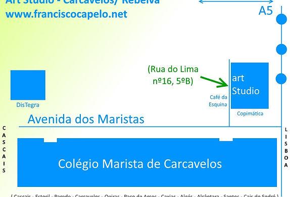 Carcavelos Art Studio Map