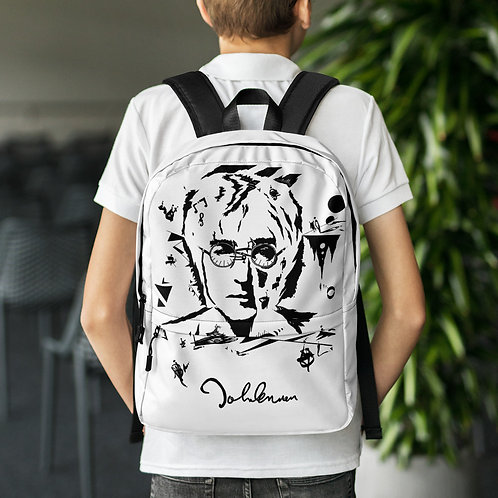Backpack - John Lennon B&W design