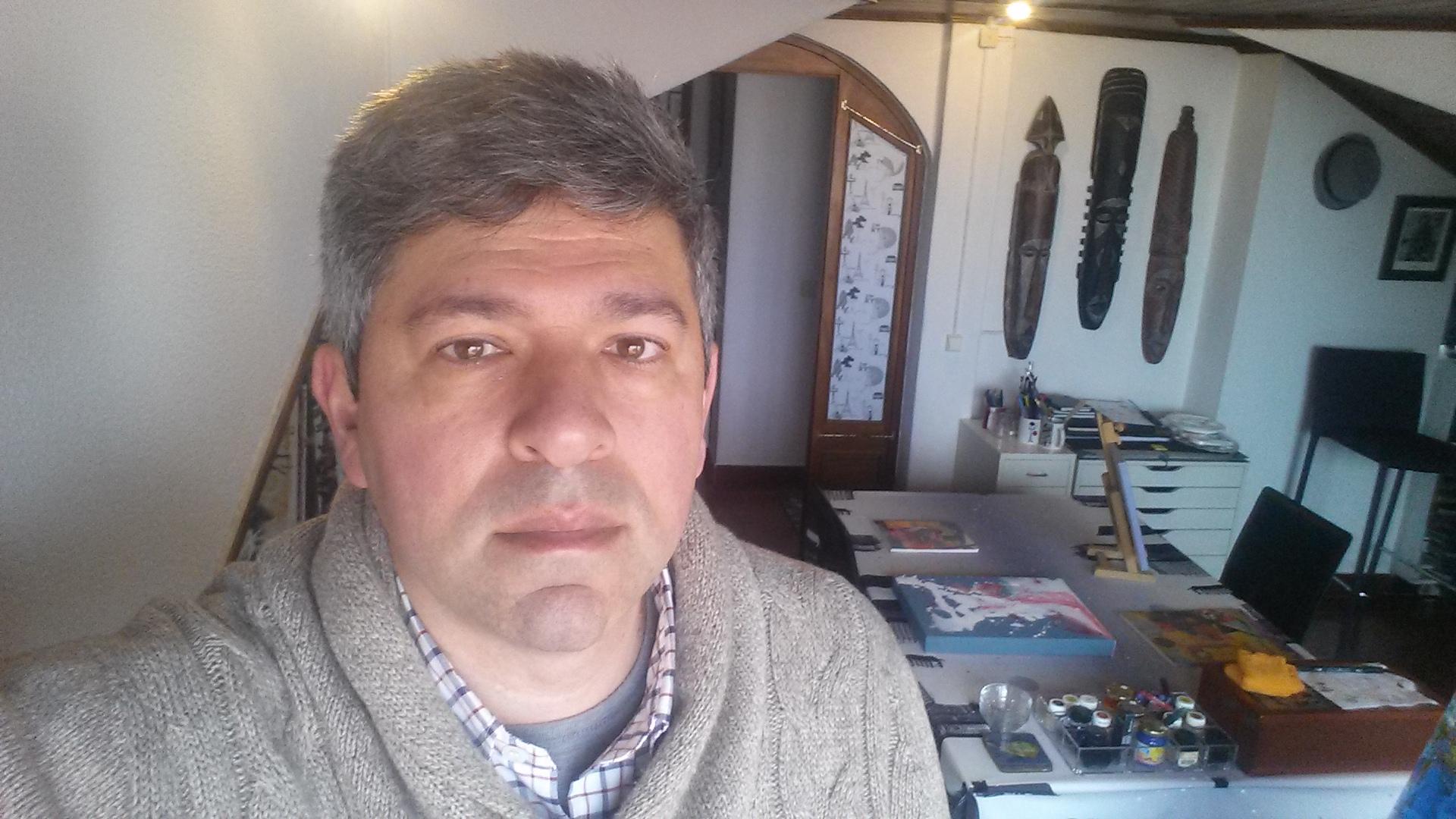 Me at the Art Studio - Carcavelos