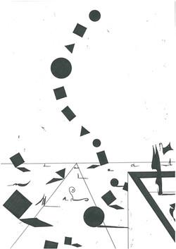 "B&W Drawing - ""Geometric poetry"""