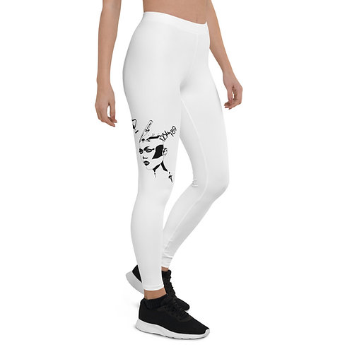 Leggings - Strong woman B&W design
