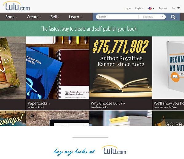 My books and ebooks on POD site Lulu
