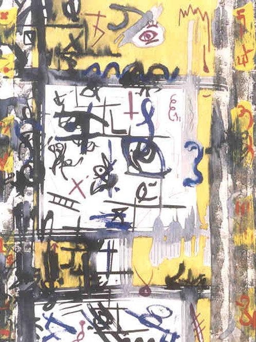 Pintura - Homem à chuva