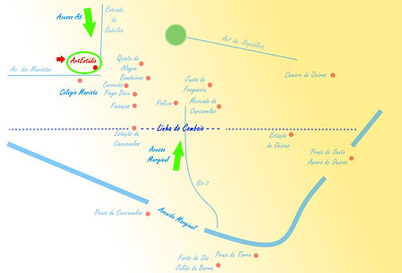 Carcavelos Art Studio Map