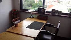 Mesas do estúdio de arte