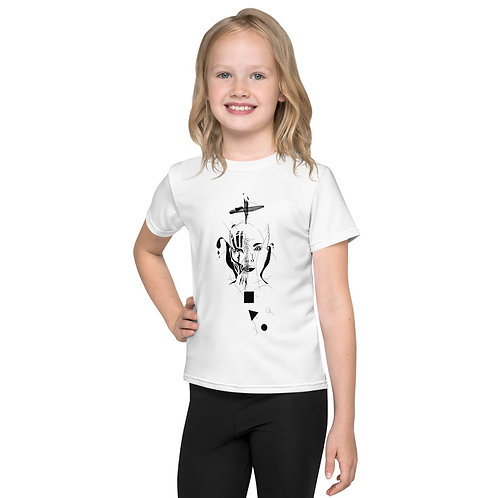 Kids T-Shirt - Spider woman B&W design