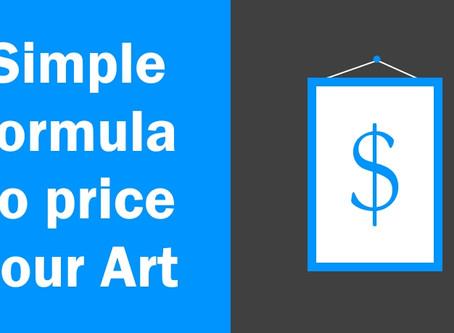 O preço certo para a tua arte - Simple art pricing formula