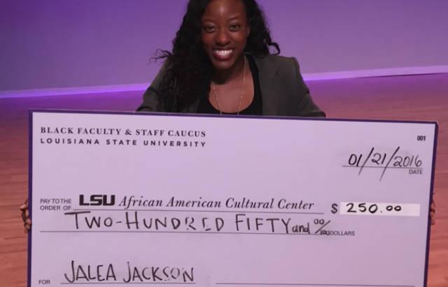 Jackson receives MLK Humanitarian Award