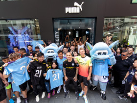 PUMA x 曼城記者會2019 英超皇者「藍月亮」球星現身 與球迷零距離互動
