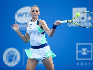 衛冕冠軍薩巴倫卡 [2] Aryna SABALENKA (BLR) 慘遭普利斯科娃Kristyna PLISKOVA (CZE) 淘汰 頭號種子本西奇[1] Belinda BENCIC (SUI)