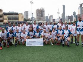 國際欖球名宿上陣名將抗癌慈善賽  為行善復出