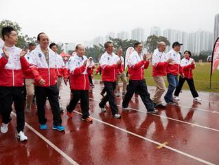 香港精英運動員協會 「動感校園 - 毅力十二愛心跑」 逾千名中小學生、家長及市民與精英運動員 齊為慈善出汗  以健康活力接力跑喜迎聖誕