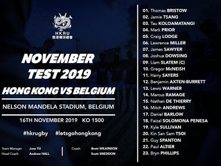 NINE NEW CAPS IN HONG KONG SQUAD FOR BELGIUM
