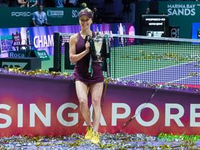 2018 WTA Finals Singapore 美烏大戰  雙方激戰三盤   絲慧杜蓮娜隨後趕上捧走獎杯