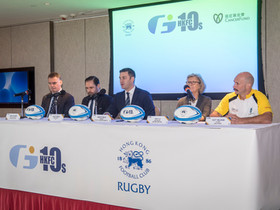 前英國及愛爾蘭雄獅隊代表 李安納、湯史密夫 出戰GFI香港足球會十人欖球賽 名將抗癌慈善賽