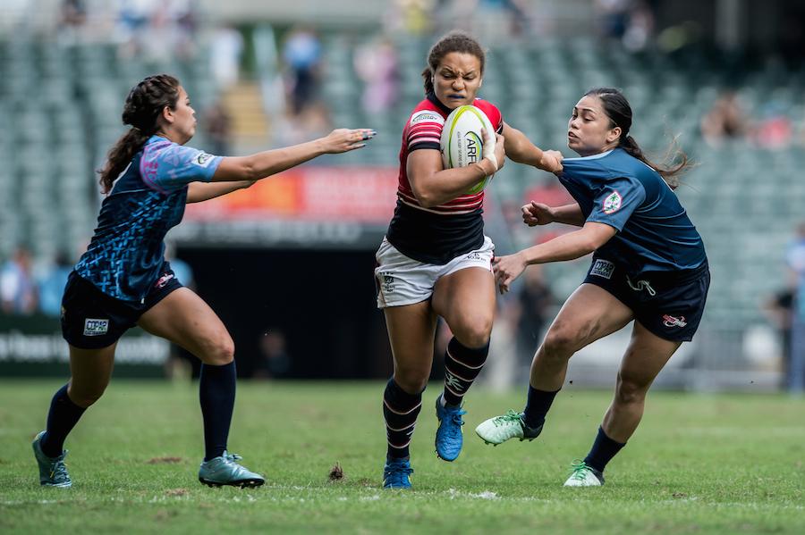 HKG Womens 7s captain Natasha Olson Thorne v Guam