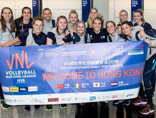「FIVB 世界女排聯賽香港2019」 各球隊陸續抵港迎接第三周賽事