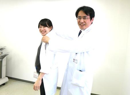 新入局スタッフに白衣をプレゼントしました