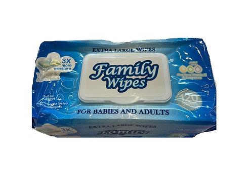 TOALLITAS FAMILY WIPES - 120 UNID