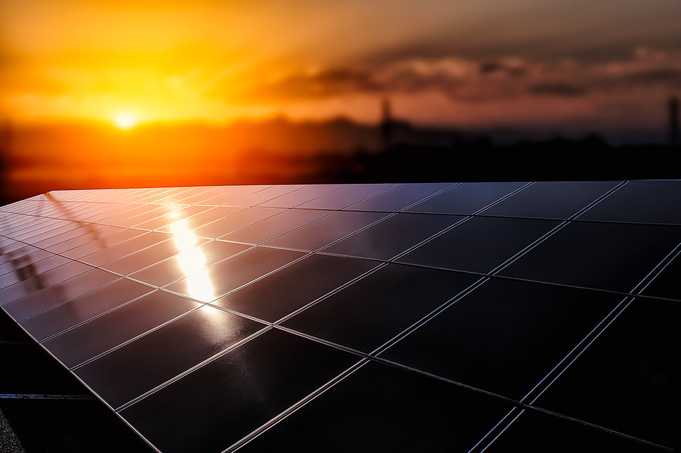 background of photovoltaic modules for r