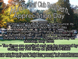 Resident Appreciation Day to be held 5/19 & 5/20