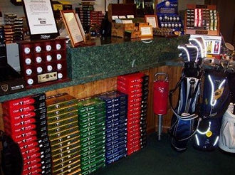 Pro Shop merchandise at Hunter Golf Club
