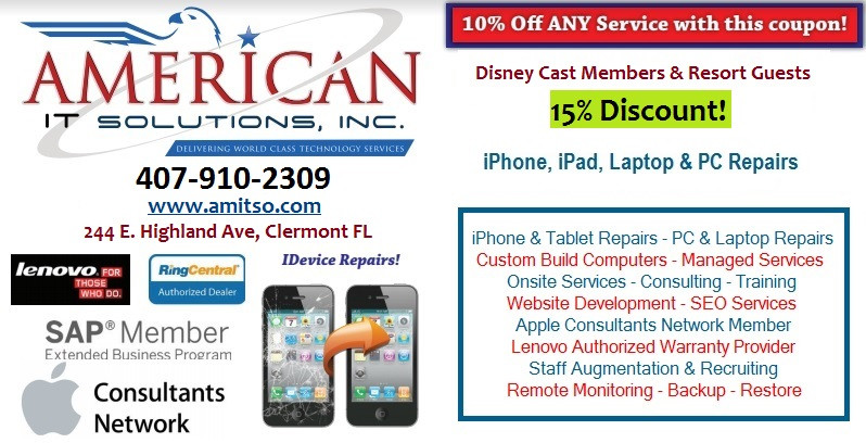 Disney Cast Members phone repair discount
