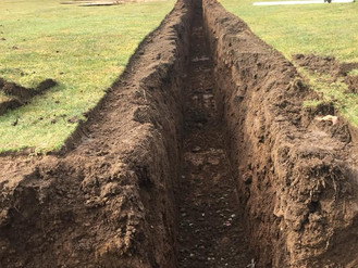 Drainage work 9th fairway