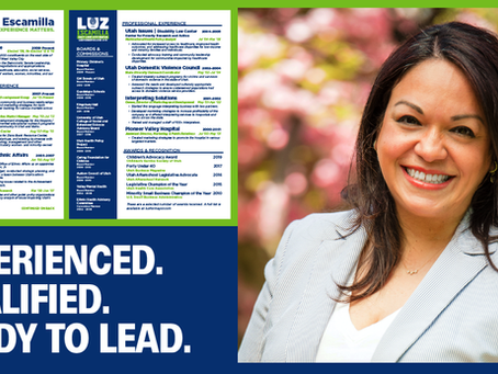 Experienced. Qualified. Ready to Lead Salt Lake City.