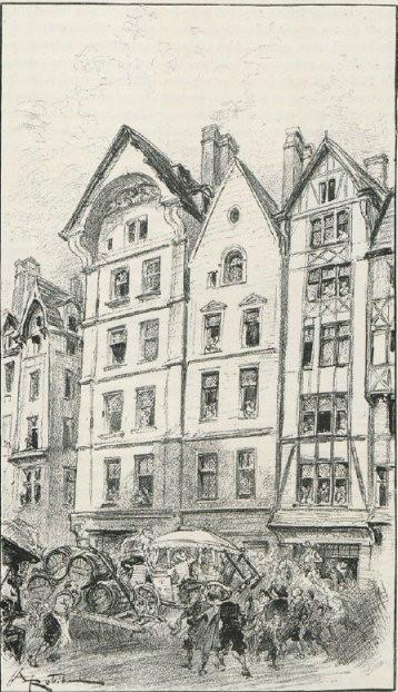 Gravure d'Alain Robida // 19e siècle