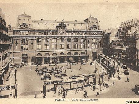 La gare saint Lazare : repères chronologiques et iconographiques