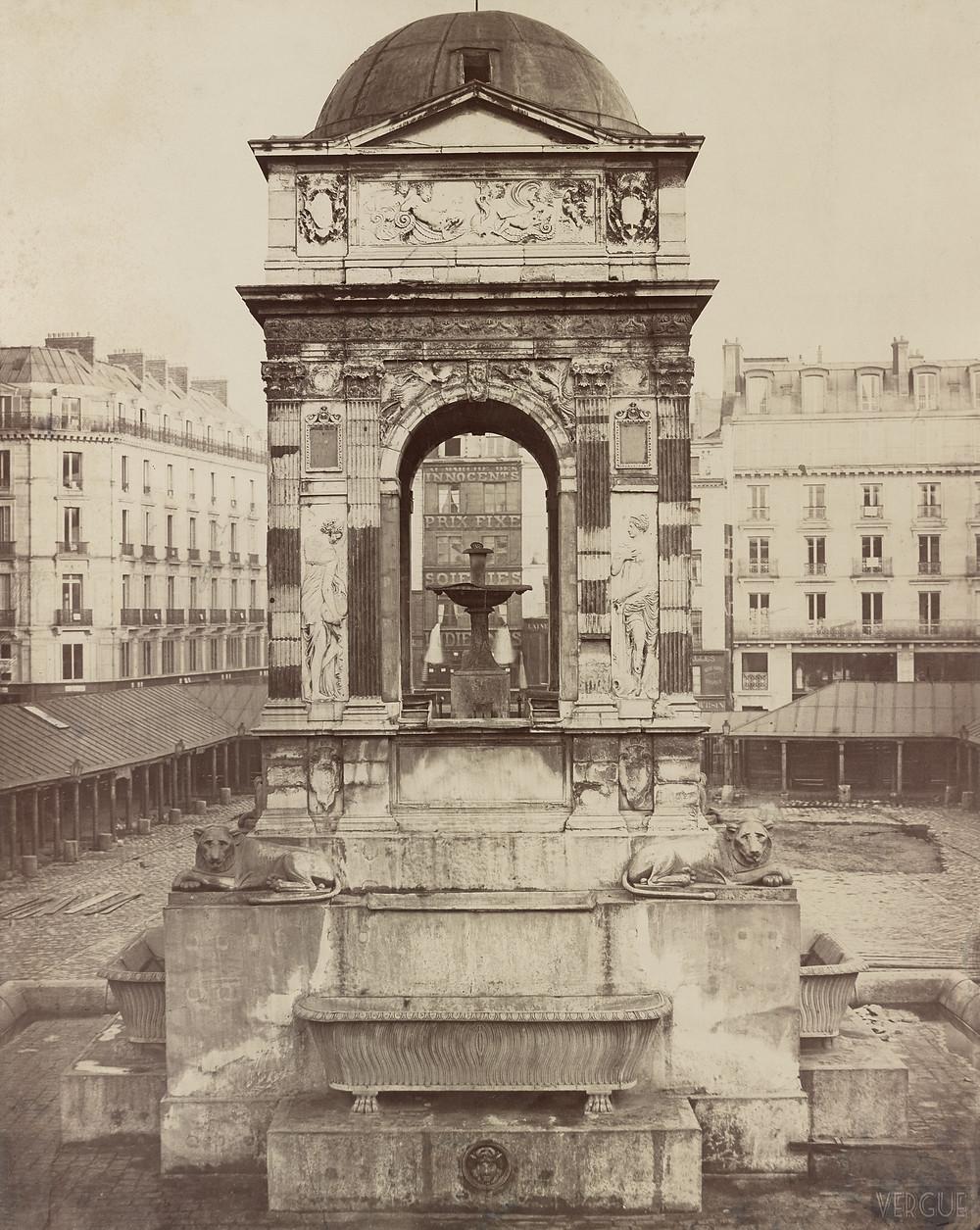 La fontaine en 1866
