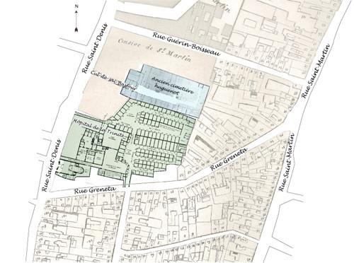Plan de l'ancien hopital de la Trinité
